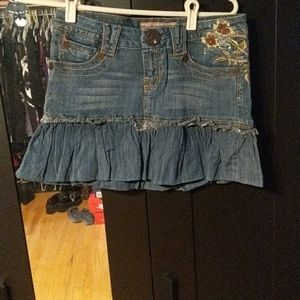 NWOT Candies embroidered Jean Skirt